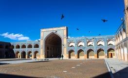 Προαύλιο του μουσουλμανικού τεμένους Jameh στο Ισφαχάν στοκ φωτογραφία με δικαίωμα ελεύθερης χρήσης