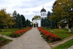 Προαύλιο του ορθόδοξου μοναστηριού Zamfira, Ρουμανία Στοκ Εικόνα