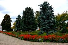 Προαύλιο του ορθόδοξου μοναστηριού Zamfira, Ρουμανία Στοκ φωτογραφίες με δικαίωμα ελεύθερης χρήσης