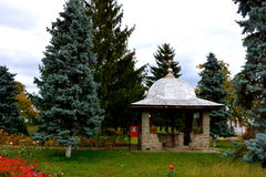 Προαύλιο του ορθόδοξου μοναστηριού Zamfira, Ρουμανία Στοκ εικόνες με δικαίωμα ελεύθερης χρήσης