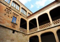 Προαύλιο των όπλων του θαυμάσιου Castle Buen Amor Topas, Σαλαμάνκα, Ισπανία Στοκ φωτογραφία με δικαίωμα ελεύθερης χρήσης