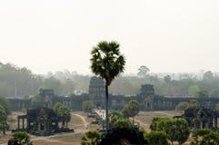 Προαύλιο Angkor Wat - Siem συγκεντρώστε - Καμπότζη Στοκ Εικόνες