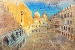 Προαύλιο Doge του παλατιού. Βενετία. Ιταλία. Στοκ εικόνα με δικαίωμα ελεύθερης χρήσης