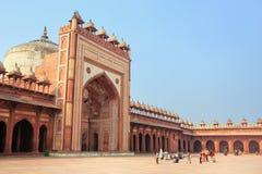 Προαύλιο Jama Masjid σε Fatehpur Sikri, Ουτάρ Πραντές, Ινδία Στοκ Εικόνες