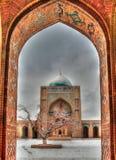 Προαύλιο Kalyan μουσουλμανικών τεμενών ως τμήμα po-ι-Kalyan σύνθετη Μπουχάρα, Ουζμπεκιστάν Στοκ Εικόνα