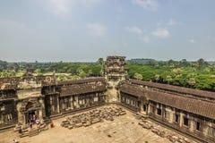 Προαύλιο Wat Angkor, Καμπότζη Στοκ Φωτογραφία