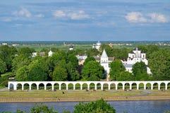 Προαύλιο Yaroslav από την πανοραμική θέα, Veliky Novgorod στοκ εικόνες