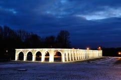 Προαύλιο Yaroslav σε Veliky Novgorod, Ρωσία - τοπίο χειμερινής νύχτας Στοκ Εικόνες