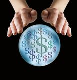 Προβλέποντας τα μέρη των χρημάτων στο μέλλον Στοκ εικόνες με δικαίωμα ελεύθερης χρήσης