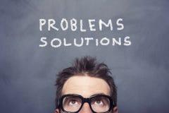 Προβλήματα και διαλύματα Στοκ Φωτογραφία