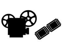 Προβολέας και ταινία Στοκ Φωτογραφίες
