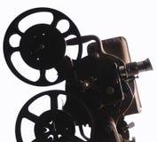 Προβολέας ταινιών σε ένα άσπρο υπόβαθρο στοκ εικόνες
