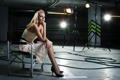 προβολείς ακτίνων κοριτ&s Στοκ φωτογραφία με δικαίωμα ελεύθερης χρήσης