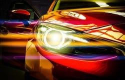 Προβολείς αυτοκινήτων Εξωτερική λεπτομέρεια Έννοια πολυτέλειας αυτοκινήτων Στοκ Εικόνες