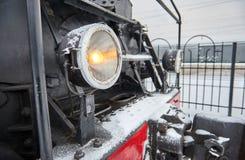 Προβολέας στην ατμομηχανή Στοκ Φωτογραφία