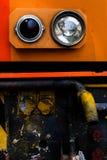 Προβολέας της εκλεκτής ποιότητας μπροστινής άποψης αυτοκινήτων κοντά στοκ φωτογραφίες
