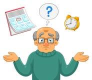 Προβλήματα μνήμης διανυσματική απεικόνιση