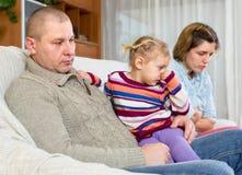 Προβλήματα σε μια οικογένεια Στοκ εικόνες με δικαίωμα ελεύθερης χρήσης
