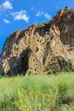 Προγονικά σπίτια Pueblo, εθνικό μνημείο Bandelier Στοκ Φωτογραφία