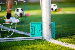Προγραμματίζοντας πίνακας στρατηγικής ποδοσφαίρου ποδοσφαίρου Ποδόσφαιρο προγύμνασης Στοκ εικόνα με δικαίωμα ελεύθερης χρήσης