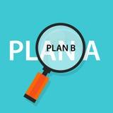 Προγραμματίστε μια εναλλακτική λύση έννοιας στρατηγικής έκτακτης ανάγκης β Στοκ Φωτογραφία
