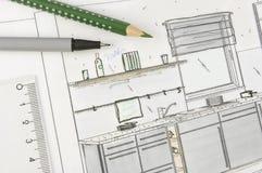 προγραμματισμός κουζινών Στοκ Εικόνες