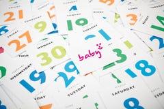 Προγραμματισμός μωρών Στοκ Φωτογραφίες
