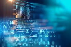 Προγραμματισμός του αφηρημένου υποβάθρου τεχνολογίας κώδικα του λογισμικού deve Στοκ εικόνες με δικαίωμα ελεύθερης χρήσης