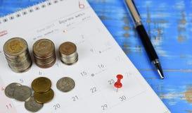 Προγραμματισμός χρημάτων Στοκ Εικόνες