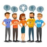 Προγραμματιστές, υπεύθυνοι για την ανάπτυξη, κωδικοποίηση διαδικασίας, ομαδική εργασία Επικοινωνία ελεύθερη απεικόνιση δικαιώματος