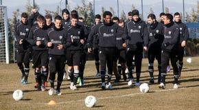 προγυμνάζοντας ομάδα ποδοσφαίρου paok Στοκ εικόνες με δικαίωμα ελεύθερης χρήσης