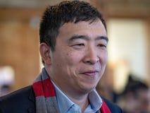 Προεδρικός υποψήφιος του Andrew Yang στοκ εικόνες με δικαίωμα ελεύθερης χρήσης