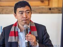 Προεδρικός υποψήφιος του Andrew Yang στοκ φωτογραφίες