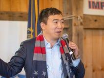 Προεδρικός υποψήφιος του Andrew Yang στοκ φωτογραφία