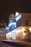 Προεδρικό γραφείο της Λιθουανίας στη νύχτα Στοκ εικόνες με δικαίωμα ελεύθερης χρήσης