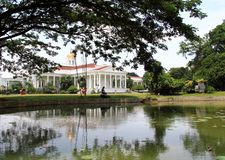 Προεδρικό παλάτι σε Bogor, Ινδονησία στοκ εικόνες