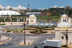 Προεδρικό παλάτι στο εμιράτο του Αμπού Ντάμπι, Ε.Α.Ε. στοκ φωτογραφία