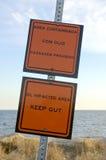 προειδοποίηση μόλυνσης Στοκ φωτογραφίες με δικαίωμα ελεύθερης χρήσης