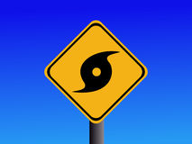 προειδοποίηση σημαδιών τυφώνα Στοκ Εικόνα