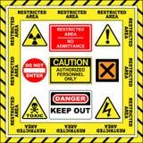 προειδοποίηση σημαδιών διανυσματική απεικόνιση