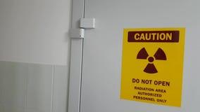 Προειδοποιητικό σημάδι ακτίνας X απόθεμα βίντεο