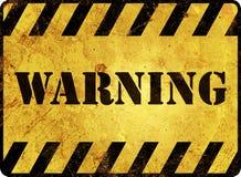 Προειδοποιητικό σημάδι Στοκ φωτογραφίες με δικαίωμα ελεύθερης χρήσης