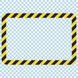 Προειδοποιώντας ριγωτό ορθογώνιο υπόβαθρο, που προειδοποιεί για να είναι προσεκτικός, πιθανός κίνδυνος, κίτρινα & μαύρα λωρίδες σ ελεύθερη απεικόνιση δικαιώματος