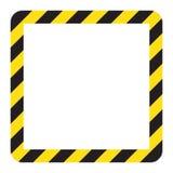 Προειδοποιώντας ριγωτό τετραγωνικό πλαίσιο, που προειδοποιεί για να είναι προσεκτικός, πιθανός κίνδυνος, κίτρινα & μαύρα λωρίδες  ελεύθερη απεικόνιση δικαιώματος