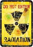 Προειδοποίηση ακτινοβολίας Στοκ φωτογραφία με δικαίωμα ελεύθερης χρήσης