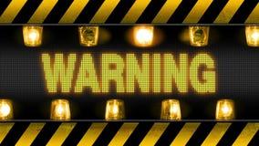 Προειδοποίηση - βιομηχανικό οδόφραγμα απεικόνιση αποθεμάτων
