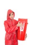 Προειδοποίηση γυναικών λόγω των αποβλήτων κινδύνου Στοκ Εικόνες