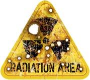 Προειδοποίηση περιοχής ακτινοβολίας Στοκ εικόνα με δικαίωμα ελεύθερης χρήσης