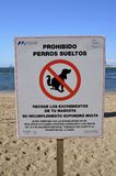 Προειδοποίηση σημαδιών σκυλιών Στοκ Εικόνα