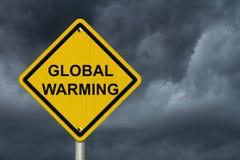 Προειδοποίηση του σημαδιού υπερθέρμανσης του πλανήτη Στοκ φωτογραφία με δικαίωμα ελεύθερης χρήσης
